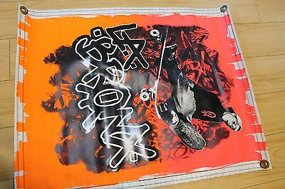 L.A. Bronx - Rare Neon 1980's Shop Display Banner 21x26in. Skateboarding Poster