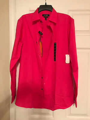 ff18110f38fde Men s Apt 9 Slim Fit Dress Shirt...Stretch..Spellbound Pink.