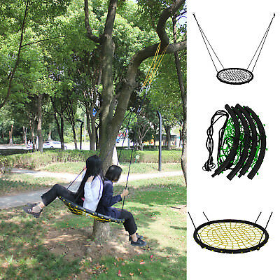 "New 40""/ 100cm Diameter Spider Web Tree Swing Large Round Nest Kids Ring Seat"