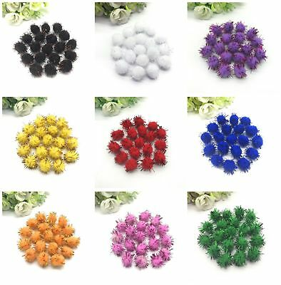 "50 pcs 5/8 ""15mm Christmas ornaments plush ball craft gift box decoration DIY"