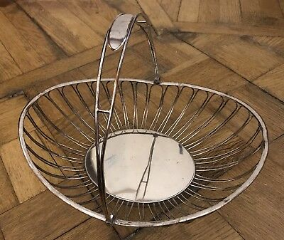 Old Sheffield Plate Wirework Twist Basket Georgian, c1800