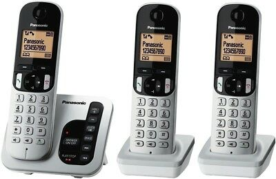 NEW Panasonic KX-TGC223ALS Cordless Phone Triple Pack
