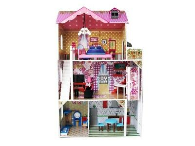 Doll House The EVA Furniture Wooden DIY Dolls Dollhouse Miniature Kit New