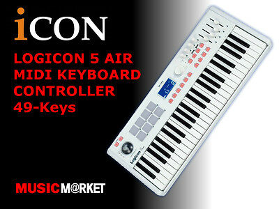 ICON Logicon 5 Air Midi Keyboard Controller, 49-Keys, Brand New!