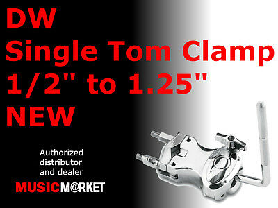 """DW Single Tom Clamp 1/2"""" to 1.25"""" NEW"""