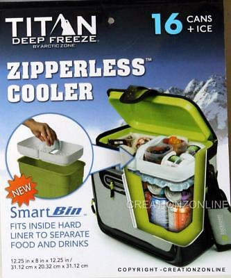 Artic Zone Zipperless Cooler 16 Cans + Ice + Backsaver + Water Stain Resistant