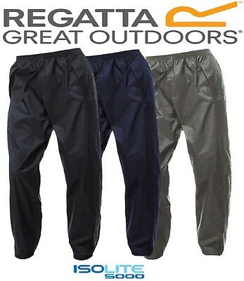 Regatta Mens Packaway Ii Waterproof Breathable Trousers Isolite Mw348