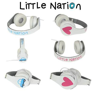 Little Nation Kids Volume Limited Headphones Girls Boys iPad iPhone Mp3 3.5mm