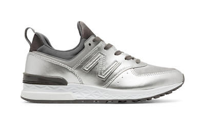 NEW BALANCE WOMEN SPORT REMIXES WS574SFG 574 SILVER Lifestyles Sneakers 6-10 4fdc524e5