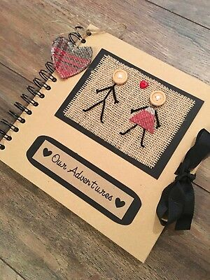 Our Adventures Scrapbook - Anniversary Gift - Gift for Boyfriend -Memory Book