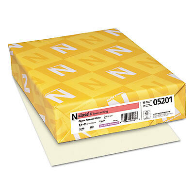 CLASSIC Linen Writing Paper, 24lb, 8 1/2 x 11, Natural White, 500 Sheets 05201