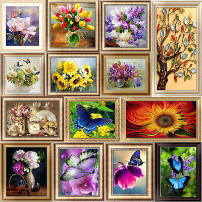 DIY 5D Tree Flower Embroidery Diamond Painting Cross Stitch Kits Home Decor Craf