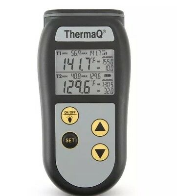 ETI Digital Dual Channel Thermometer Type K Probes Multichannel ThermQ 2