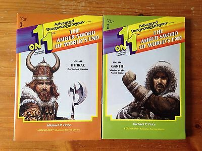 AD&D Advanced Dungeons & Dragons - The Amber Sword of World's End - gamebooks
