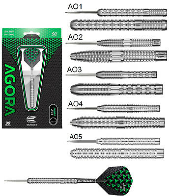 Target Agora 90% Tungsten Steel Tip Darts - Choose 21g 22g 23g 24g 25g or 26g