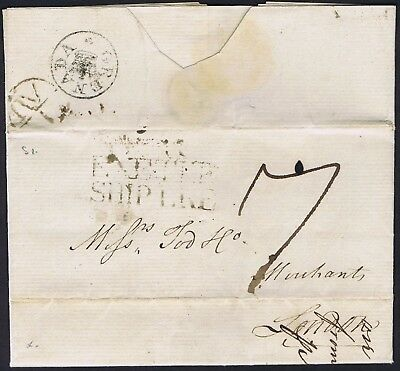 Grenada 1785 EXETER SHIP LETTER and fine and very early GRENADA CROWN RARE