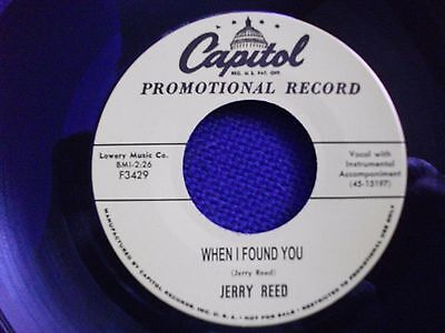 ROCKIN' 45 - JERRY REED - When I Found You - FREE POSTAGE