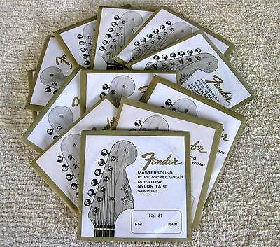 "2 SETS of Original NEW 1960s FENDER ""L"" Series GUITAR STRINGS rare VINTAGE item"