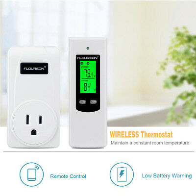 Floureon TS-808 RF Plug In Thermostat Heating and Cooling Temperature Controller