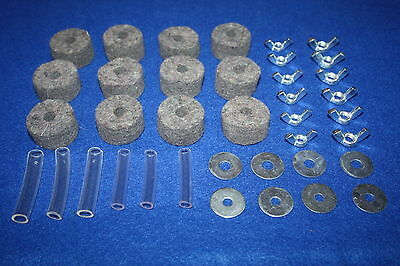 Drum Kit Cymbal Felts + Sleeves + Wingnuts + Washers 38 Pieces - SELECT A COLOUR