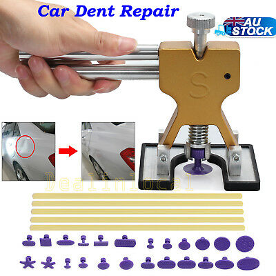 PDR Lifter Glue Puller + 24 Tabs Hail Removal Paintless Car Dent Repair Tool Kit