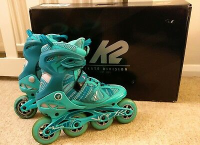 K2 VO2 90mm boa Womens Inline Skates ilq9 bearings. Size 8.