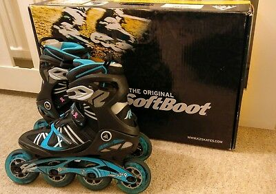 K2 VO2 90mm speed boa Womens Inline Skates ilq9 bearings. Size 7.