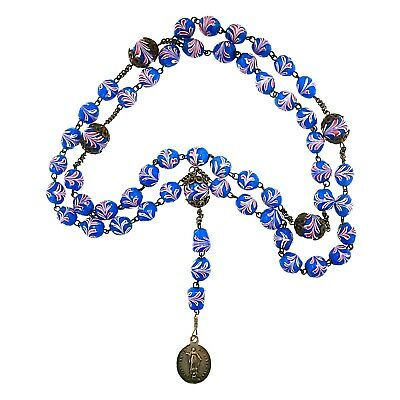 (1810) Rare 19th century rosary composed with Venetian glass beads.