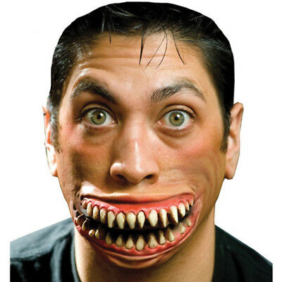 Halloween Crazy Grin Make Up Face-Teeth Mouth Latex Makeup Accessory Costume