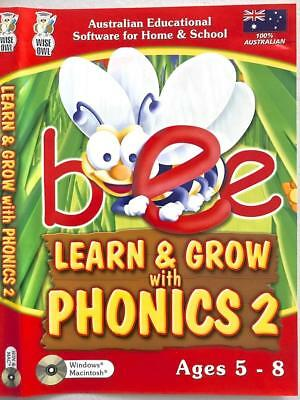 Learn and Grow with Phonics 2 Windows 7 Education PC Game Reading Alphabet Age5+