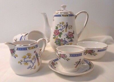 Lord Nelson Pottery T'sing 4 place coffee set