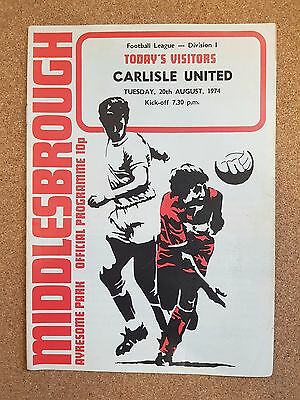 PROGRAMME Middlesbrough Football Club Home Games 1974 1975 - Various