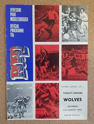 PROGRAMME Middlesbrough Football Club Home Games 1975 1976 - Various