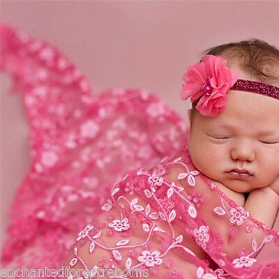 Reborn/Newborn Baby Lace Wrap~Beautiful embroidered detail~Tassels