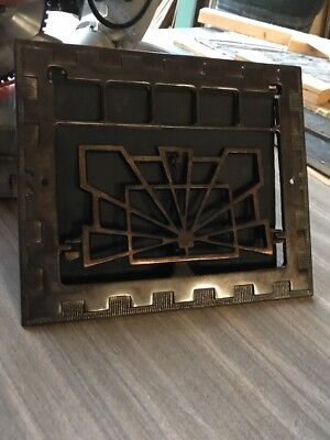 D5 Antique Cast-Iron Deco Wall Mount Heating Grate 11.75 X 13.75