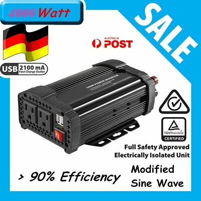 P400C 400W Car Power Inverter DC12V to AC220V Modified Charger Power Converter