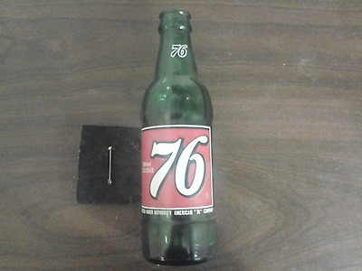 Vintage 1968 Spirit of 76 Soda Pop Bottle 7 oz ACL Advertising Patriotic Art Old