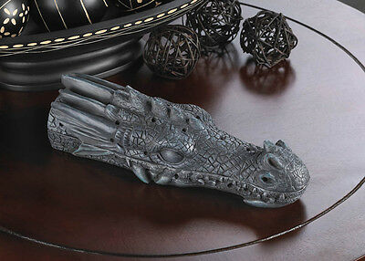 Gothic Gift Decor Smoking FIRE BREATHING DRAGON HEAD INCENSE BURNER Storage Box