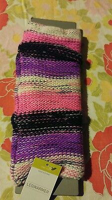 Kids Girls Capelli  Of New York Multi-Colored Knit Legwarmers  Osfm Nwt