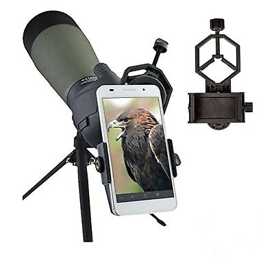 Universal Mobile Phone HolderSpotting Scope Cellphone Adapter Mount- Uni... New!