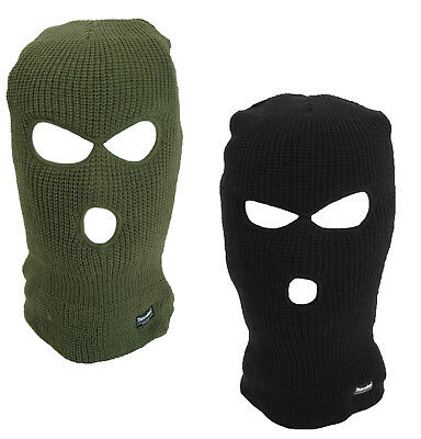 Winter Knitted Thinsulate Balaclava 3 Hole Face Mask SAS Style One Size