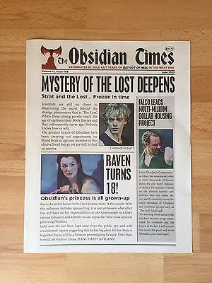 The Obsidian Times newspaper/souvenir from Bat Out Of Hell The Musical Meat Loaf