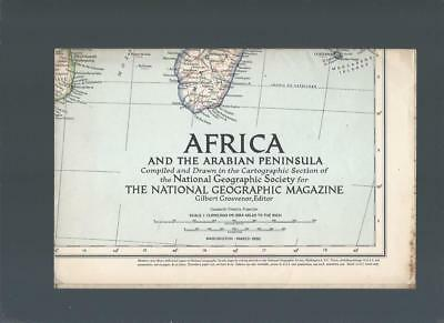 Africa and the arabian peninsula, National Geographic Map,1950