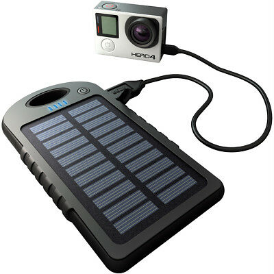 Motorcycle GoPole Dual Charge - USB Powerbank with Solar Charge UK Seller