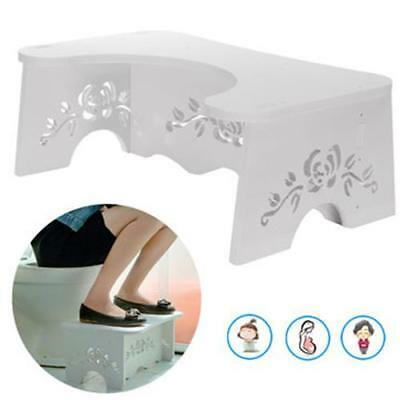 Nonslip Bathroom Squatty TOILET STOOL Wood Plastic Potty Squat Aid Pile FOOTSTEP