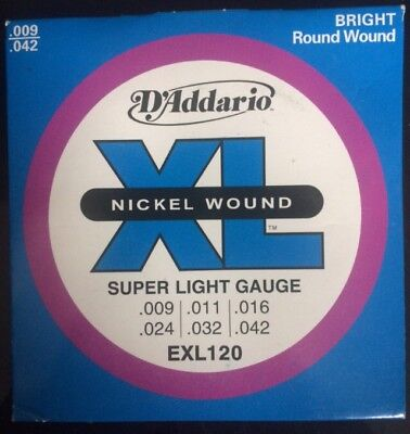 D Addario Super Light Electric Guitar Strings CHEAPEST ON EBAY LIMITED STOCK!
