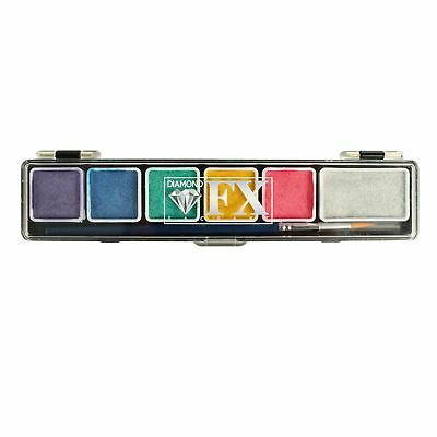 Diamond FX Mini 6 Colour Face Painting Palette - Metallic!