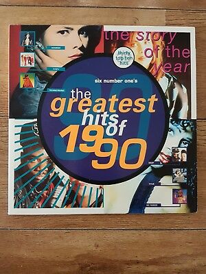 THE GREATEST HITS OF 1990 - 1990 UK Telstar 30-track Double Vinyl LP Compilation