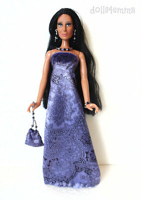 Mego Vintage CHER Doll Handmade Clothes GOWN PURSE JEWELRY Fashion NO DOLL d4e