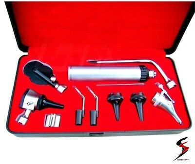 Medical Diagnositc ENT Kit Direct Otoscope and Ophthalmoscope Diagnosis Set SS